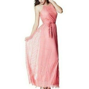 Guess Jupiter Lace Maxi Dress Gold Chain Straps